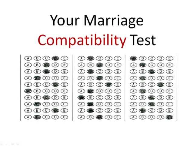 Marriage compatibility test for couples