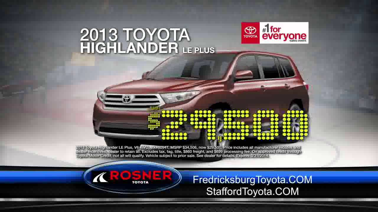 Wonderful March Markdown Madness At Rosner Toyota Of Fredericksburg