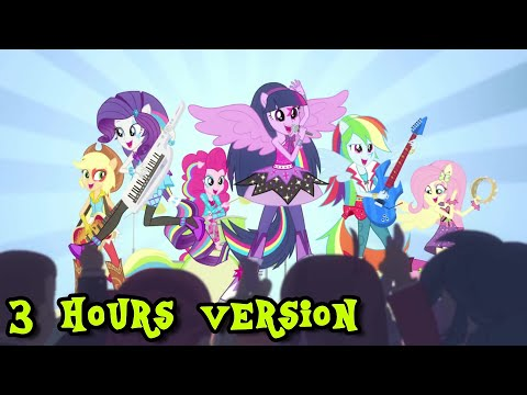 """MLP:EQG - """"Shake Your Tail""""(3 hours extended version)(HQ)"""