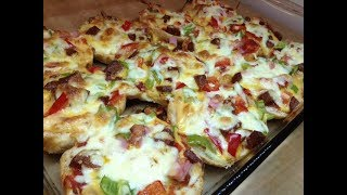 Kahvaltılık Cheddar Peynirli Mini Pizza -Kahvaltı Tarifleri