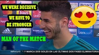 MARCO ASENSIO [POST MATCH INTERVIEW] BAYERN MUNICH VS REAL MADRID 1-2 (25/04/2018)
