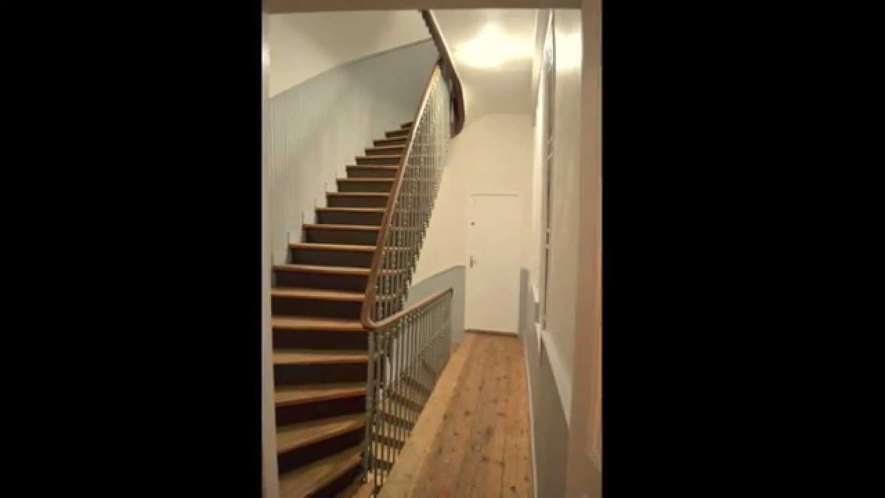 peindre une cage d 39 escalier et pon age parquet youtube. Black Bedroom Furniture Sets. Home Design Ideas