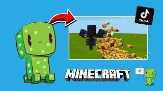 Mencoba 7 Minecraft Hack Tik Tok Paling KEREN Bikin Jantung Berdebar