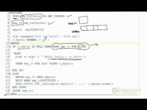PLS-11: Oracle PL/SQL Reference Cursor - YouTube