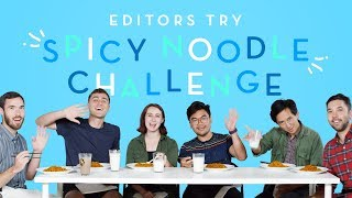 HiHo Editors Try the Spicy Noodle Challenge | Editors Try | HiHo Kids