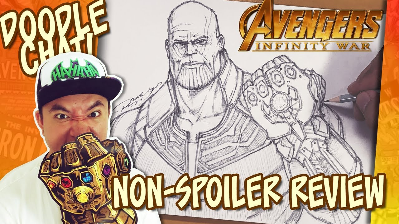 Avengers Infinity War Review Drawing Thanos