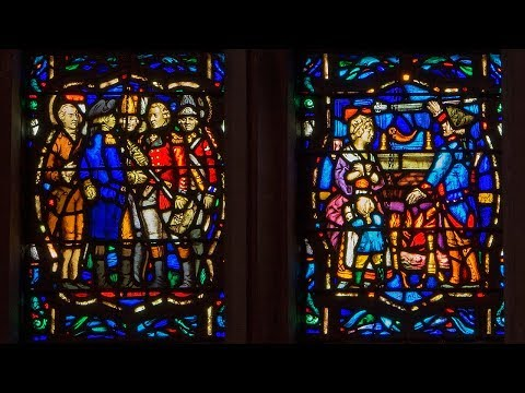 Washington Memorial Chapel in Valley Forge Stained Glass  pt 1