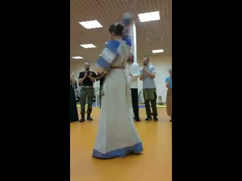 танцы и фланкировка в кругу. Cossack sword work. Dance with a sword