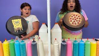Twin Telepathy Pancake Art Challenge 2!!