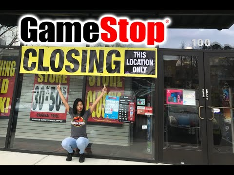 The Future Of Our Video Game Stores (GameStop Closing Down Stores)