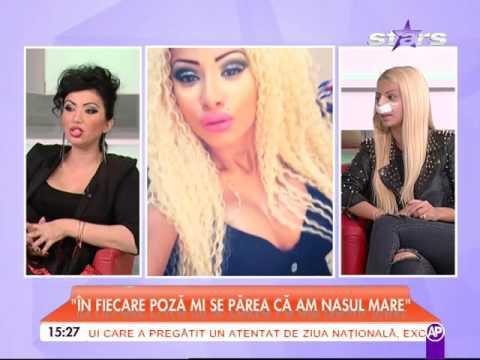 Cristina Pucean, dansatoarea lui Florin Salam, s-a operat la nas