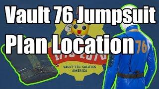 Fallout 76 - Vault 76 Jumpsuit Plan - Where to Find Plan for Vault 76 Jumpsuit Quick