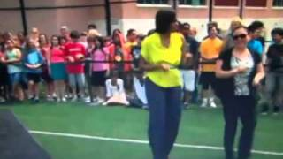 michelle obama dancing at dc school move your body