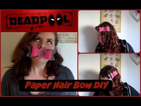 Deadpool Paper Hair Bow DIY