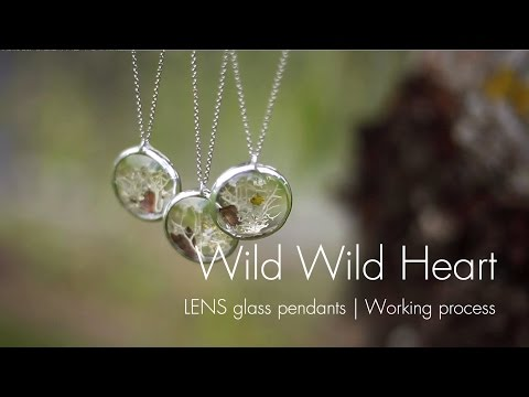 Working process: glass LENS pendants | Handcrafted nature inspired jewelry