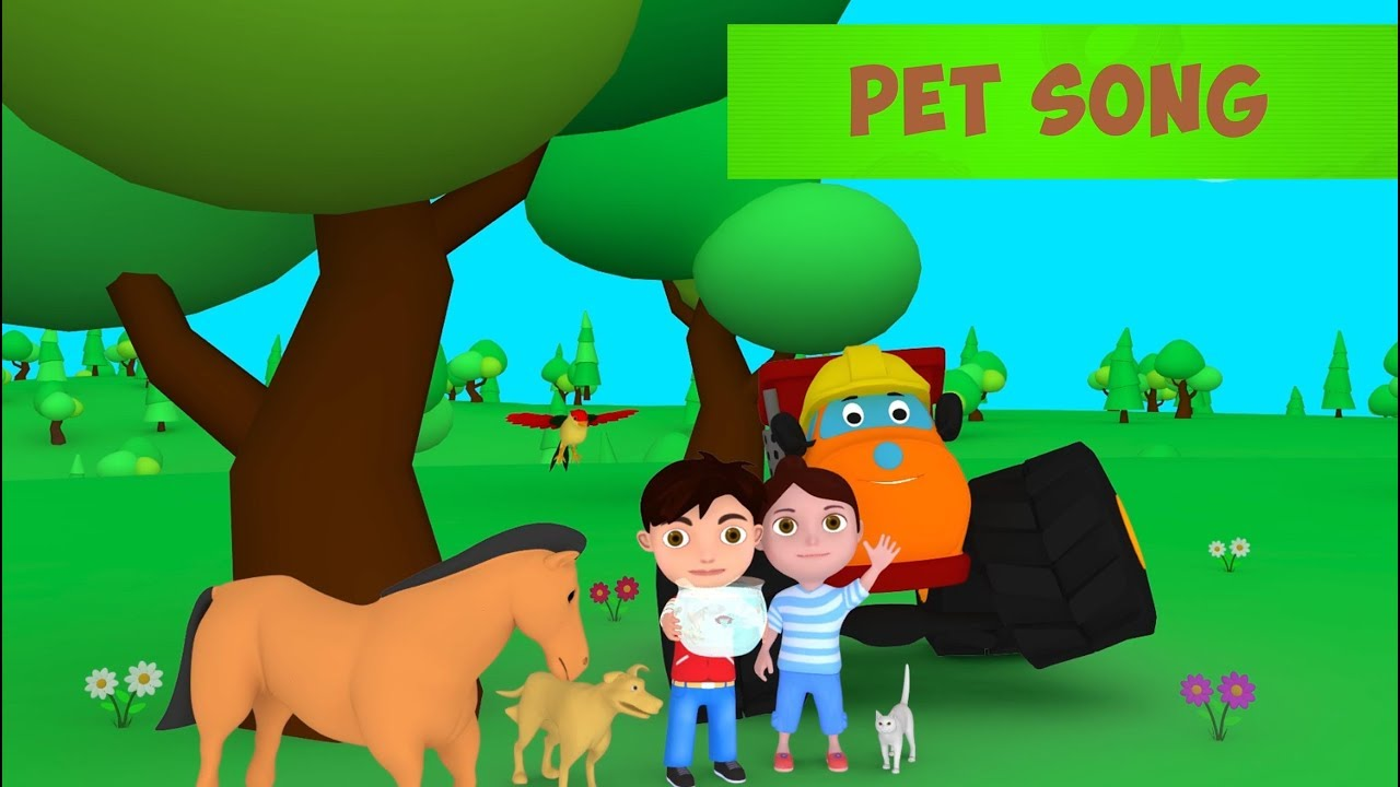 Pet Animal Songs for Kids | Original Baby Learning Songs & Nursery Rhymes by MONSTER TRUCK OZHO