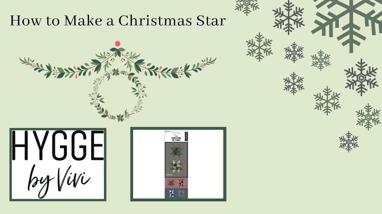 Klassisk julestjerne fra Hygge by Vivi (julepynt)