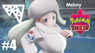 Melony the Ice Type Gym Leader Battle! Pokemon Sword and Shield - Pokemon Shield Walkthrough Part 4!