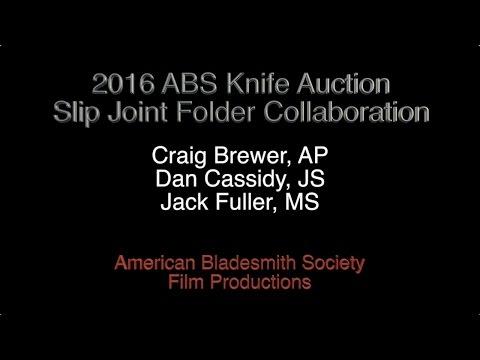 2016 ABS Slip Joint Collaboration Folding Knife- Craig Brewer, Jack Fuller, Dan Cassidy
