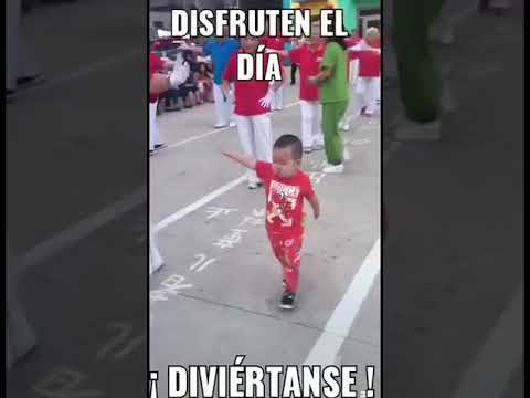 Little Boy Dances at Parade