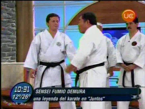 Sensei Fumio Demura en Canal 13