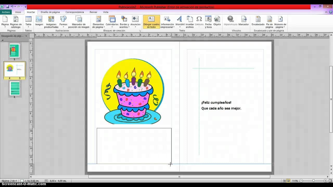 tarjeta de cumpleaños publisher YouTube