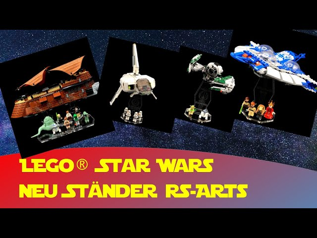 4 Ständer RS ARTS   Jabas Sail Barge, Yodas Star Fighter, Gungan Sub, Landing Craft