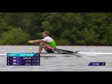 Men's Single Sculls Heat 1 European Rowing Championship 2018
