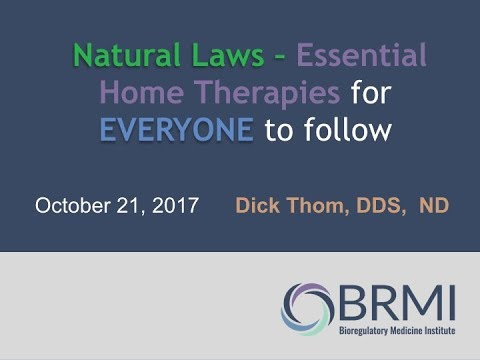 #BRMI2017: Dr.  Dickson Thom – Natural Laws: the essential at home therapies
