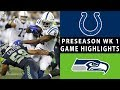 Colts vs. Seahawks Highlights | NFL 2018 Preseason Week 1