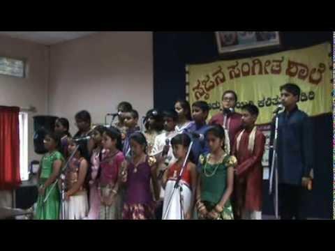 "Group Song Kannada   ""Aidu BeraLu Koodi"" By Srujana Students"