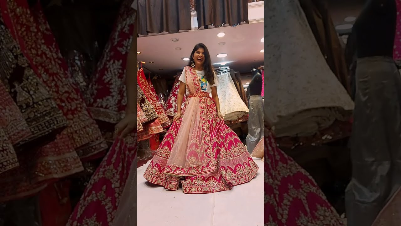 Rate This Lehenga Out Of 10 In The Comment Box #weddinglehenga #chandnichowk #bridallehenga