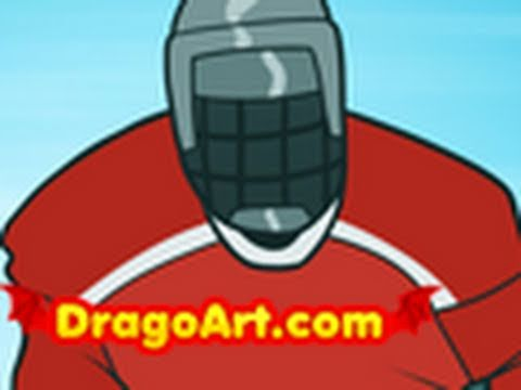 How to Draw a Hockey Player Hockey Player Step by Step  YouTube