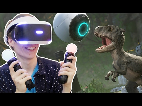 SCARY DINOSAURS ON THE PLAYSTATION VR! | Robinson: The Journ