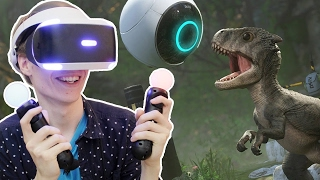 SCARY DINOSAURS ON THE PLAYSTATION VR! | Robinson: The Journey (PSVR Gameplay) #1