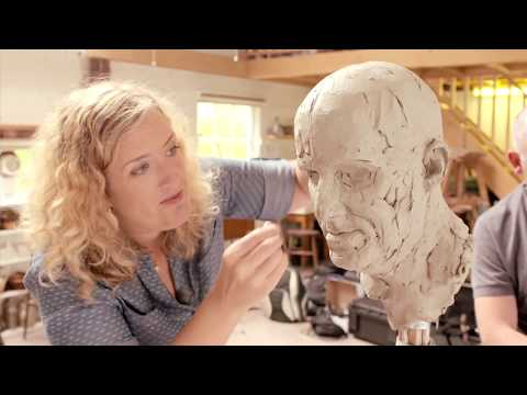 ONE DAY PORTRAIT FROM LIFE  -  STEP BY STEP SCULPTURE DEMONSTRATION - AMELIA ROWCROFT