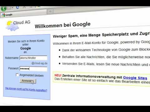 Google Apps for Business (Deutsche Demo) - Kurze Version