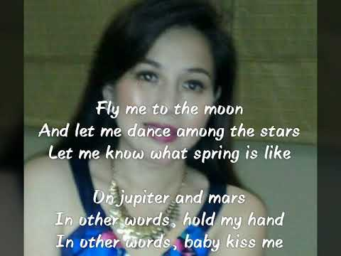 Fly me to the moon / Lucky (mash up)with lyric instrumental
