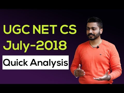 Subject wise analysis of UGC Net Computer Science  Exam July 2018