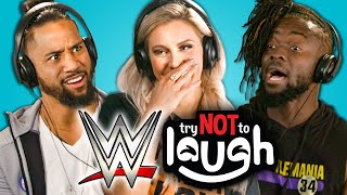 Download WWE Superstars React To Try Not To Laugh Challenge Mp3 and Videos