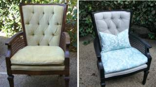 How To : Reupholster A Tufted Wing Chair