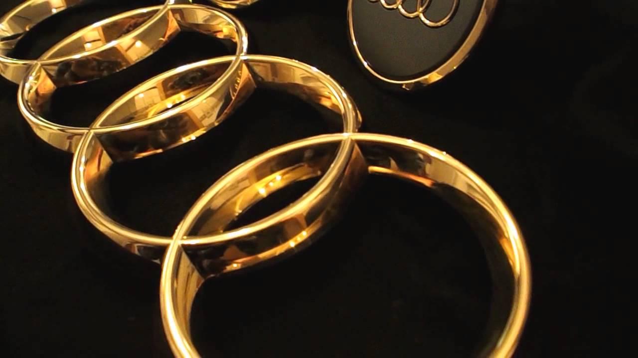 Audi Emblem Vergoldet 24 Karat