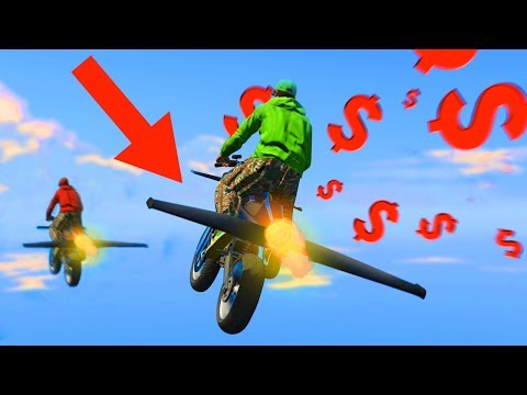 NEW $2.900.000 FLYING ROCKET BIKE! (GTA 5 DLC)