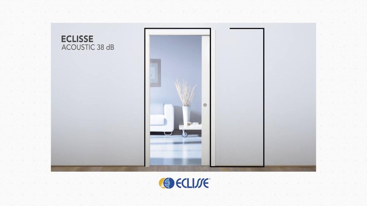 Eclisse Porte Scorrevoli Interne.Eclisse Acoustic Sistema Porta Scorrevole Acustica Youtube