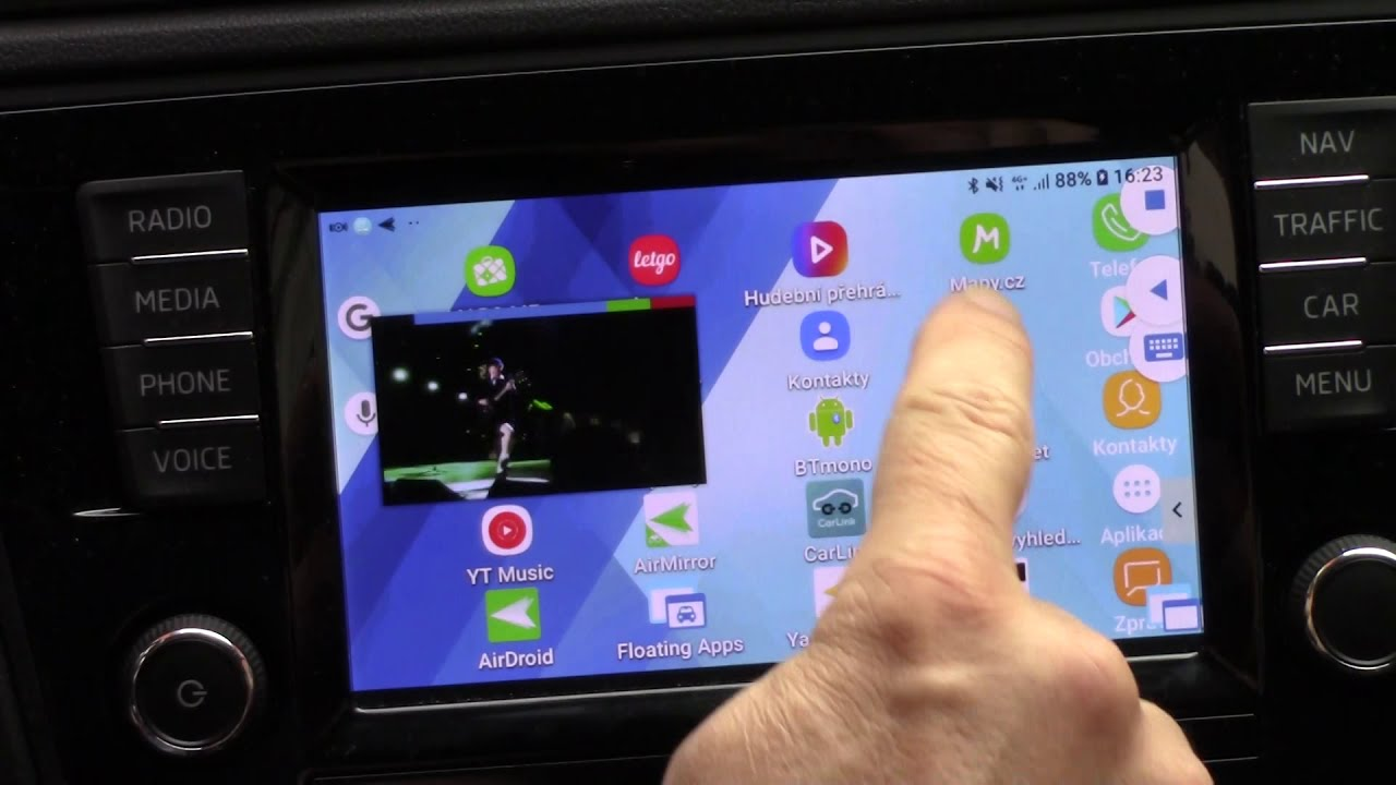 Waze and MirrorLink on Floating Apps for Auto for Samsung