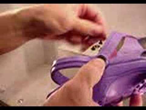 50ac0e8cc Crocs Repair Rivets from bid-a-shoe on Ebay - YouTube