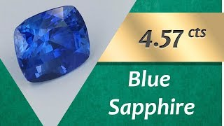 Blue Sapphire. 4.57 Carats Natural Blue Sapphire