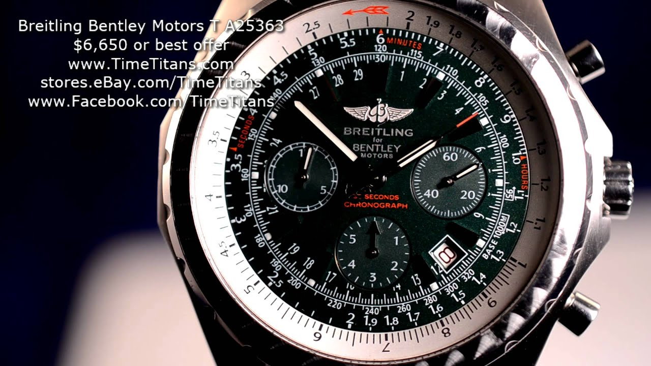 Breitling Bentley Motors T A25363 British Racing Green