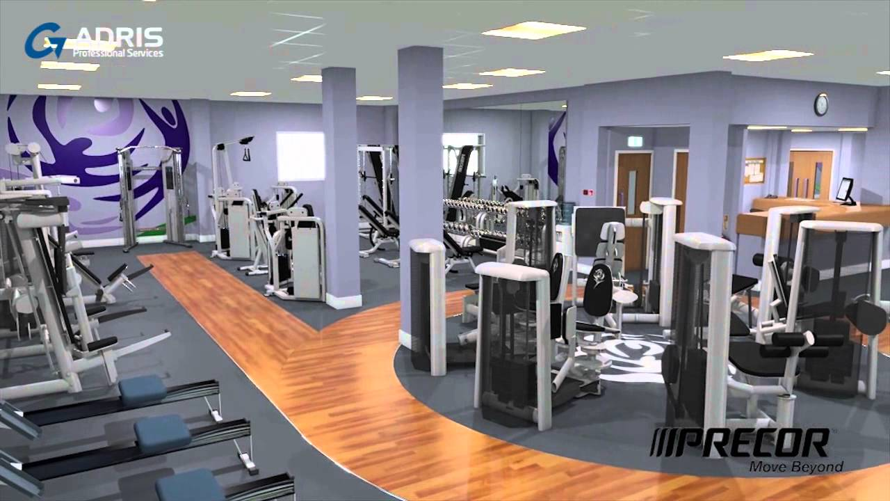 Leeds MET Uni Gym Magnus - Gym Interior Visualisation - YouTube