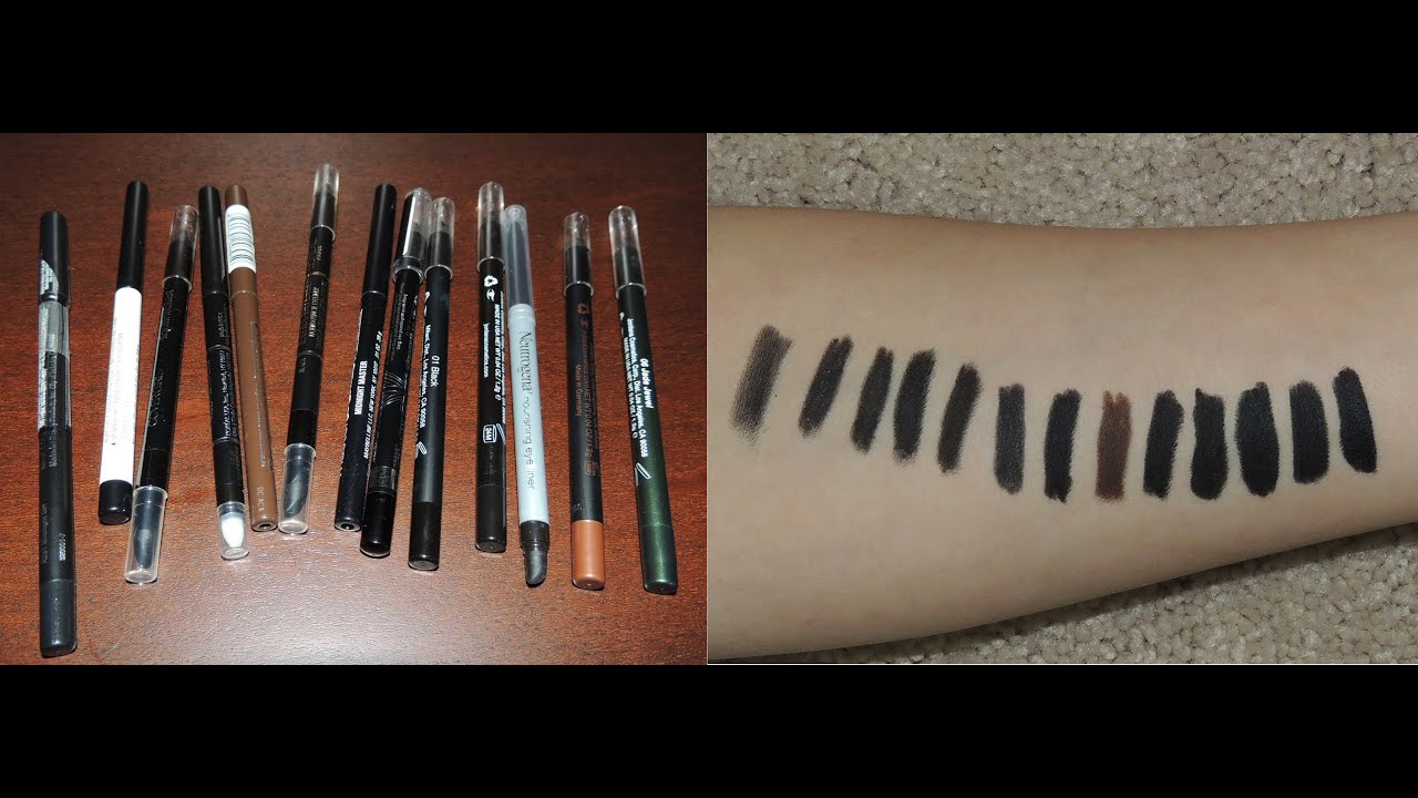 Best & Worst Drugstore Pencil Eyeliners - YouTube